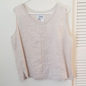 Light taupe FLAX tank 100% linen